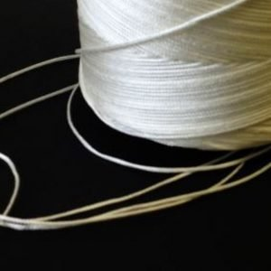 0.75mm Nylon Twine, Braided - White-0
