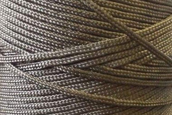 1.3mm Nylon Twine, Braided - Black-0