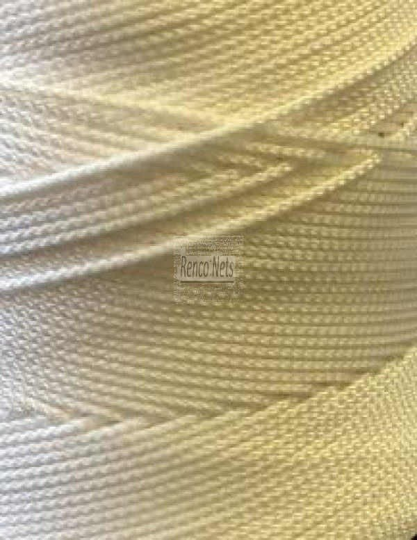 1.3mm Cross Braided Nylon Twine – White-208