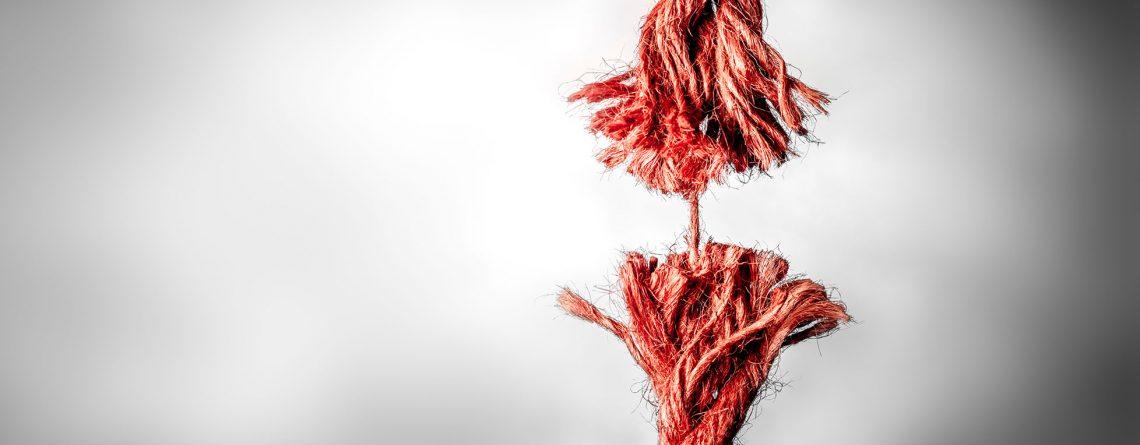 Frayed rope